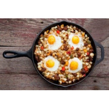 Die Casting Round Cast Iron Fry Pan With Helper Ovenproof Handle