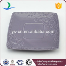 Hot sale flower design ceramic square dish