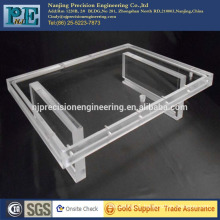 China custom laser cutting and cnc machining clear acrylic product