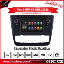 Hla 8820 DVD de voiture Android 5.1 pour BMW 1 E81 E82 E88 Radio Navigator 3G Internet ou connexion WiFi