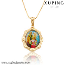 32543 Xuping Trendy Charm Jewelry oro plateado colgante de imagen religiosa como regalos