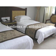 Bom preço hotel 100% algodão 40s 250tc cetim stripe tecido