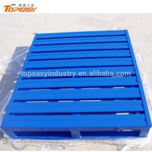 powder coated heavy duty steel pallet for forklift trolley trans