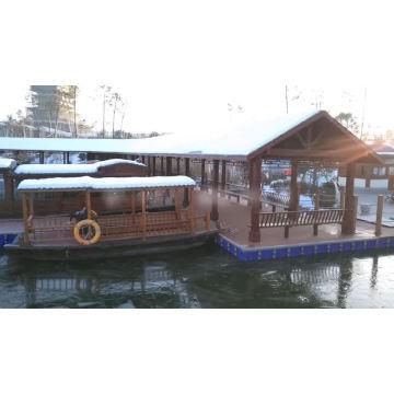 eco-friendly pontoon ferry for marina for kayak