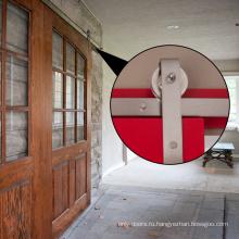 Двери из тикового дерева - двойная темная дверь сарая Wcolor