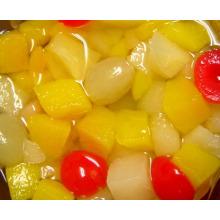 Cóctel de frutas en almíbar ligero (HACCP, ISO, BRC, FDA)