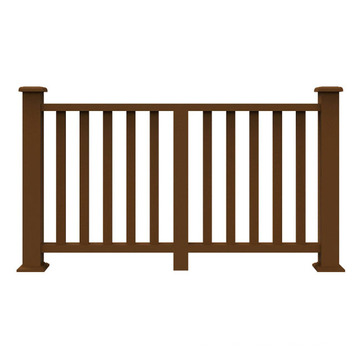 Environmental protection outdoor decorative garden fence easy installation wood plastic handrail