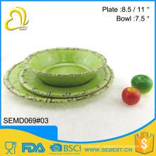 factory direct sale round shape melamine plastic tableware