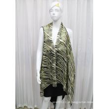 Lady Moda Impresso Poliéster Chiffon Silk Shirt (YKY2210)