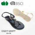 Mode Belle conception Lady Jelly Pvc Sandal