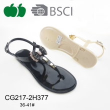 Fashion Beautiful Design Lady Jelly Pvc Sandal