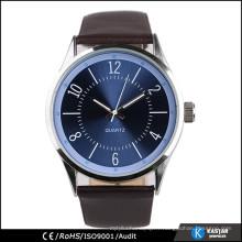 Montre à quartz en acier inoxydable montre montre résistant à l'eau