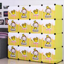 Armoires de rangement en plastique jaune pour maison (ZH002-2)