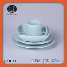 plain white ceramic dinning table set,dinner set