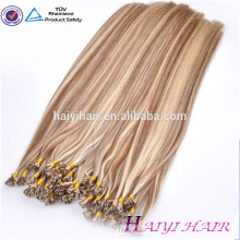 Free Chemical Treatment Thick I Tip Human Hair Factory Price