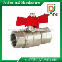 forged npt female threaded customized nickel plating two way water brass high performance butterfly valve