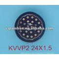 KVVP2 450 / 750V Kupferleiter PVC Isoliertes und ummanteltes Steuerkabel mit Kupferband
