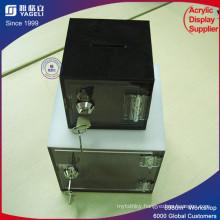 Fashionable Acrylic Donation Box with Brochure Holder