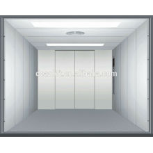 Single door open car elevator with machine room