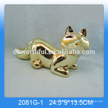 Großhandel Keramik Fuchs Dekor, Gold-Beschichtung Fuchs Figur in hoher Qualität