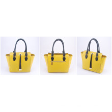 PU Contrast Color Styles New Designer Ladies Tote Hand Bag (LY05092)