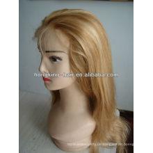 100% indische Remy aaaaa Echthaar volle Spitze Perücken für weiße Frauen