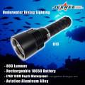 Unterwasser-Tauchen 800lm tragbare LED-Metall-Fackel