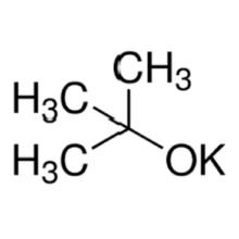 reacción de terc-butóxido de potasio y terc-butanol