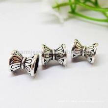 925 sterling silver double torus diy bracelet petal septa tori accessories SEF016