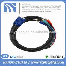 SVGA VGA to Red Green Blue RGB RCA AV Computer Cord Cable