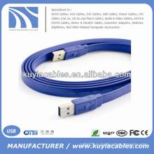 Высокоскоростной плоский кабель для лапши USB 3.0 между мужчинами 35см, 50см, 1м, 2м, 3м, 5м ..