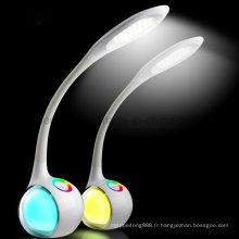 Lampe de table à LED avec gradateur tactile et lumière de couleur RVB (LTB020)
