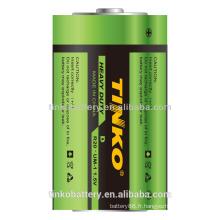 R20 carbone zinc batterie robuste avec une bonne qualité