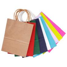 Festival Geschenk Papiertüte neue hochwertige benutzerdefinierte Kraftpapier Einkaufstasche mit Griffen