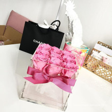 New Acrylic Rose Box Custom Size & Color