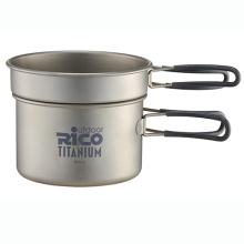 Set de titanio de alta calidad Camping bote 400ml y 800ml