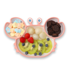 Crab Shape Baby Silicone Kids Plate Suction Plates