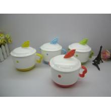 Farbige Keramik Tee Haferl
