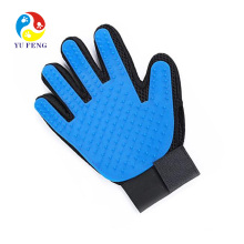 Five Fingers Bathing Brush Tool Blue Silicone Pet Grooming Glove Pet Hair Remover Glove Five Fingers Bathing Brush Tool Blue Silicone Pet Grooming Glove Pet Hair Remover Glove