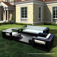 Outdoor wicker rattan sofa set