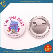 Les enfants Encouragez le Badge de Bouton d'Étain pour les Enfants dans le Prix Bon Marché