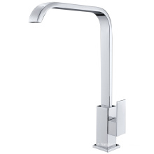 Chrome Plated Single Handle Vertical Kitchen Faucet