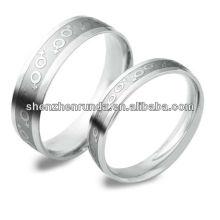 Nuevos productos 2014 Parejas anillo grabado símbolo de la moda del personaje Joyería