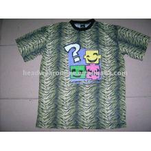 2011 новый стиль леопарда футболки с шелковой трафаретной печатью