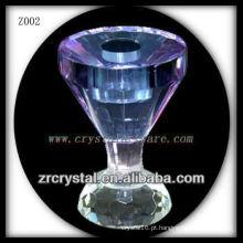 Suporte de vela de cristal popular Z002