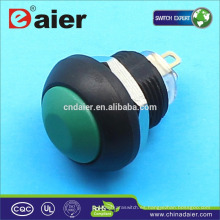 Daier interruptor de botón de 12 mm de plástico a prueba de agua interruptor de botón a prueba de agua