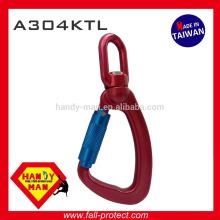 A304KTL Indicador de carga giratório de alumínio Snap Twist Lock Hook Carabiner