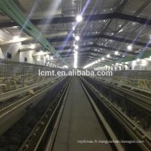 Une cage d'élevage de poules type volaille pour ferme avicole