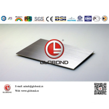 Globond Brushed Stainless Steel Sheet 039