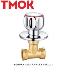 brass double male thread concealed stop valve